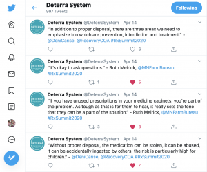 Examples of Deterra System live tweets